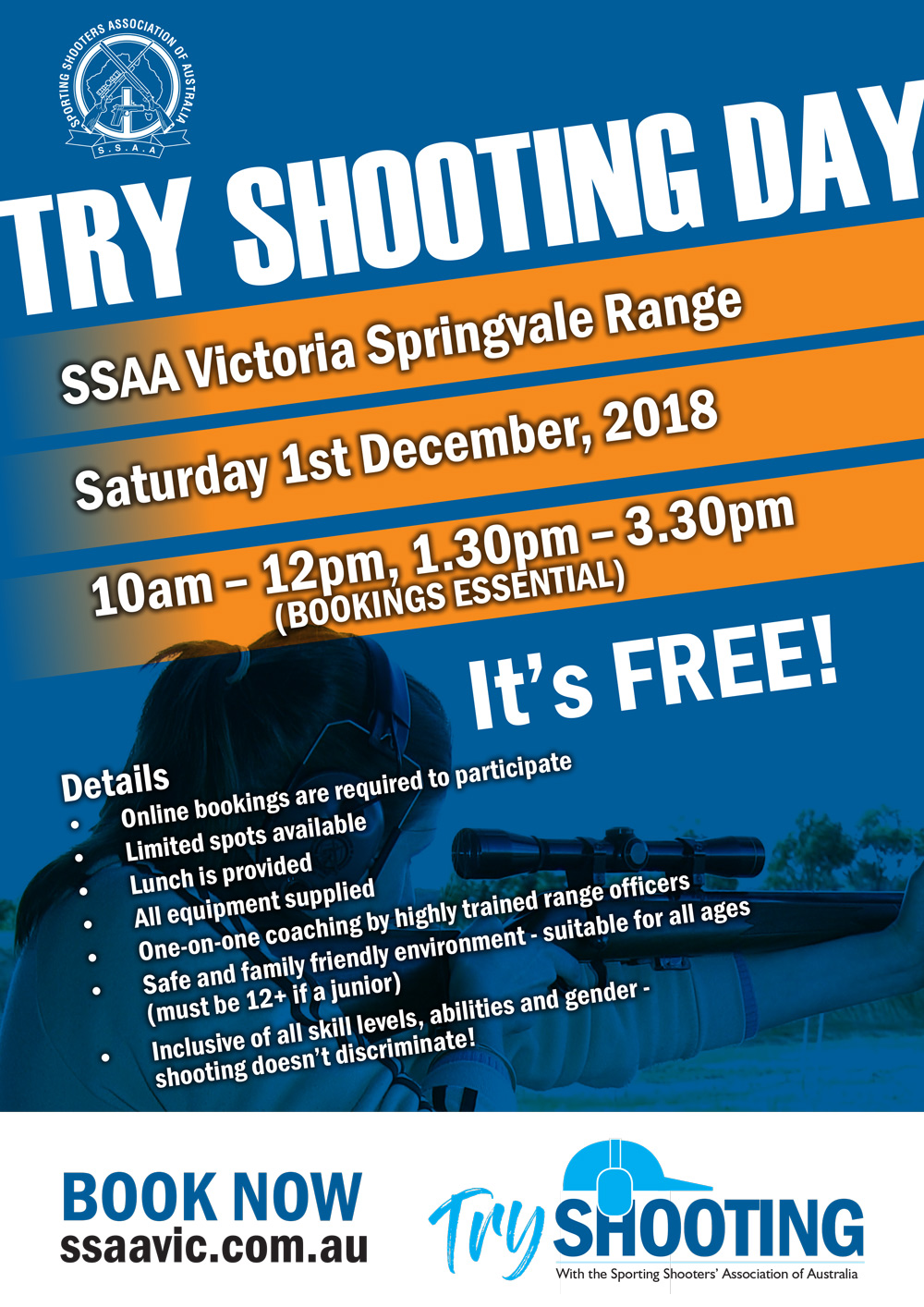 Try shooting for free at Springvale