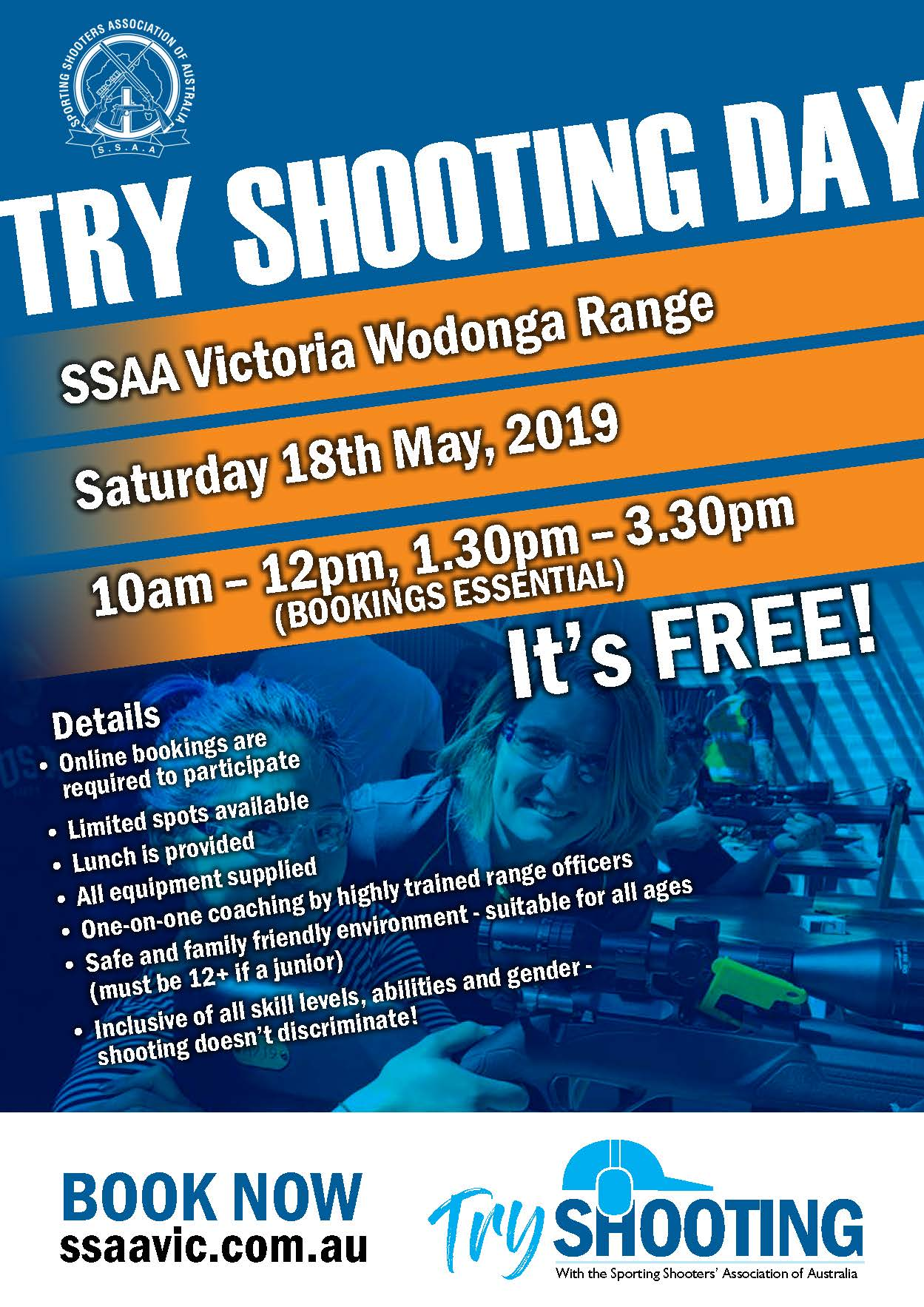 Try shooting for free in Wodonga
